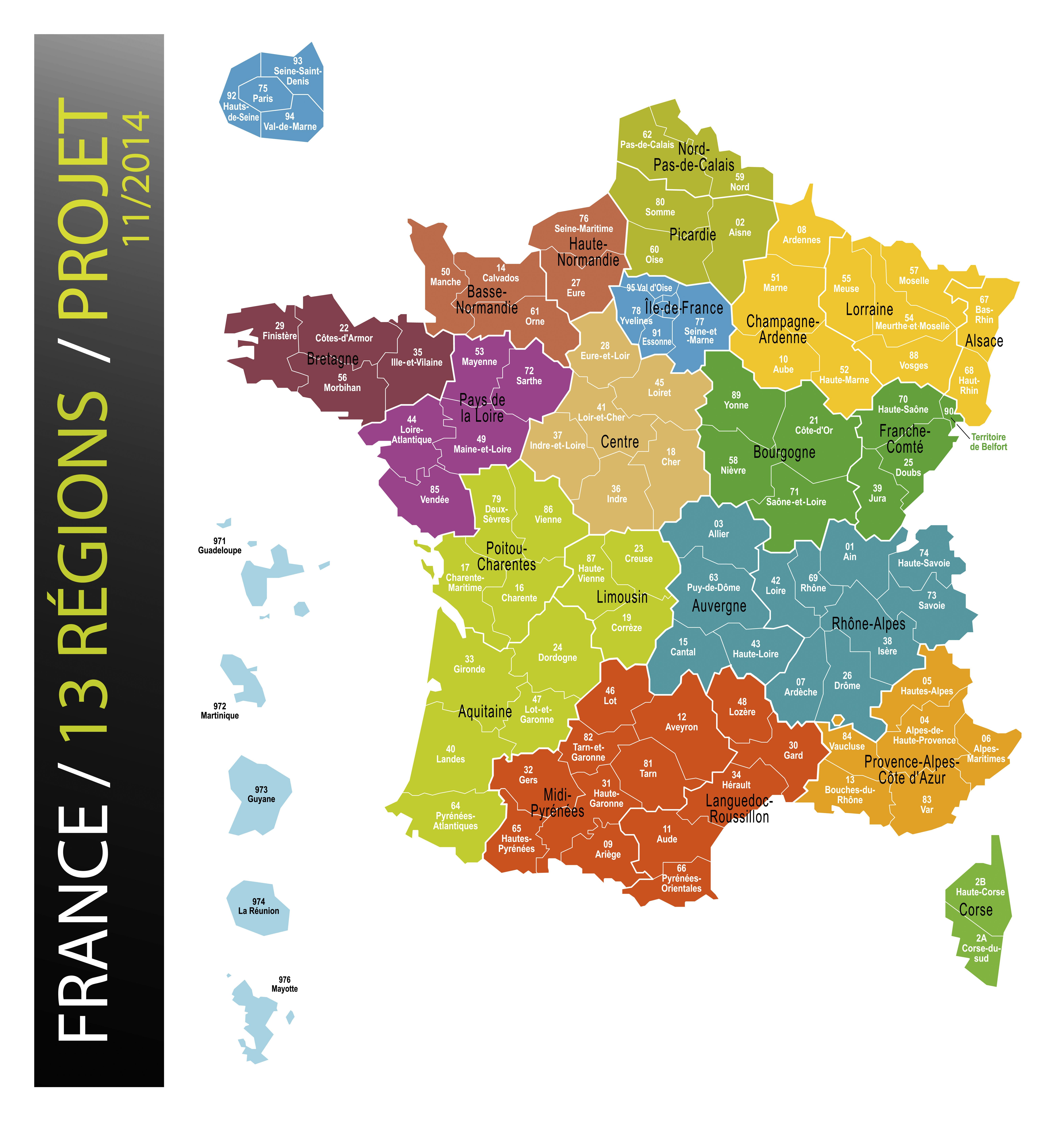 Départements france 2015