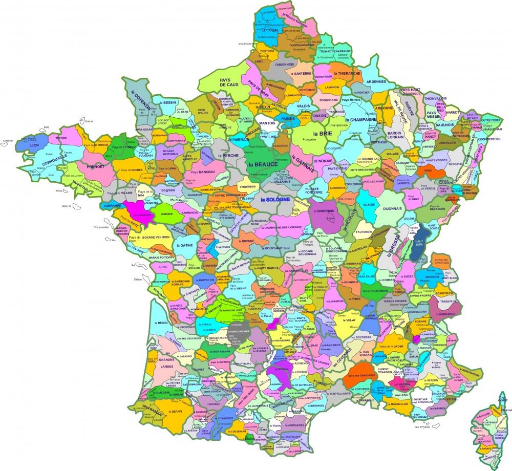 Carte des france