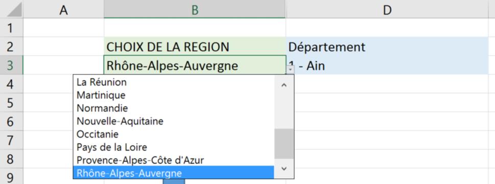 Liste region