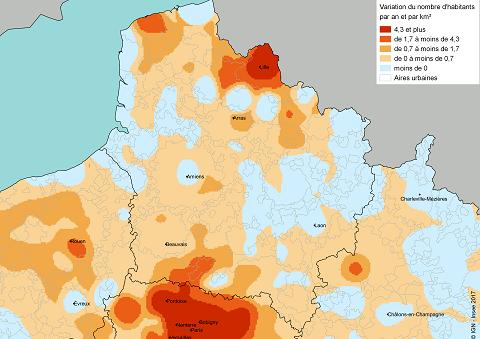 Carte france densité