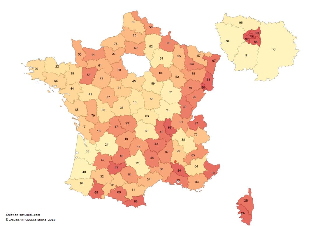 France départements numéros