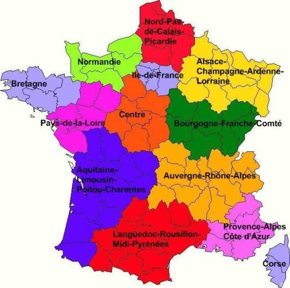 Les noms des nouvelles régions de france