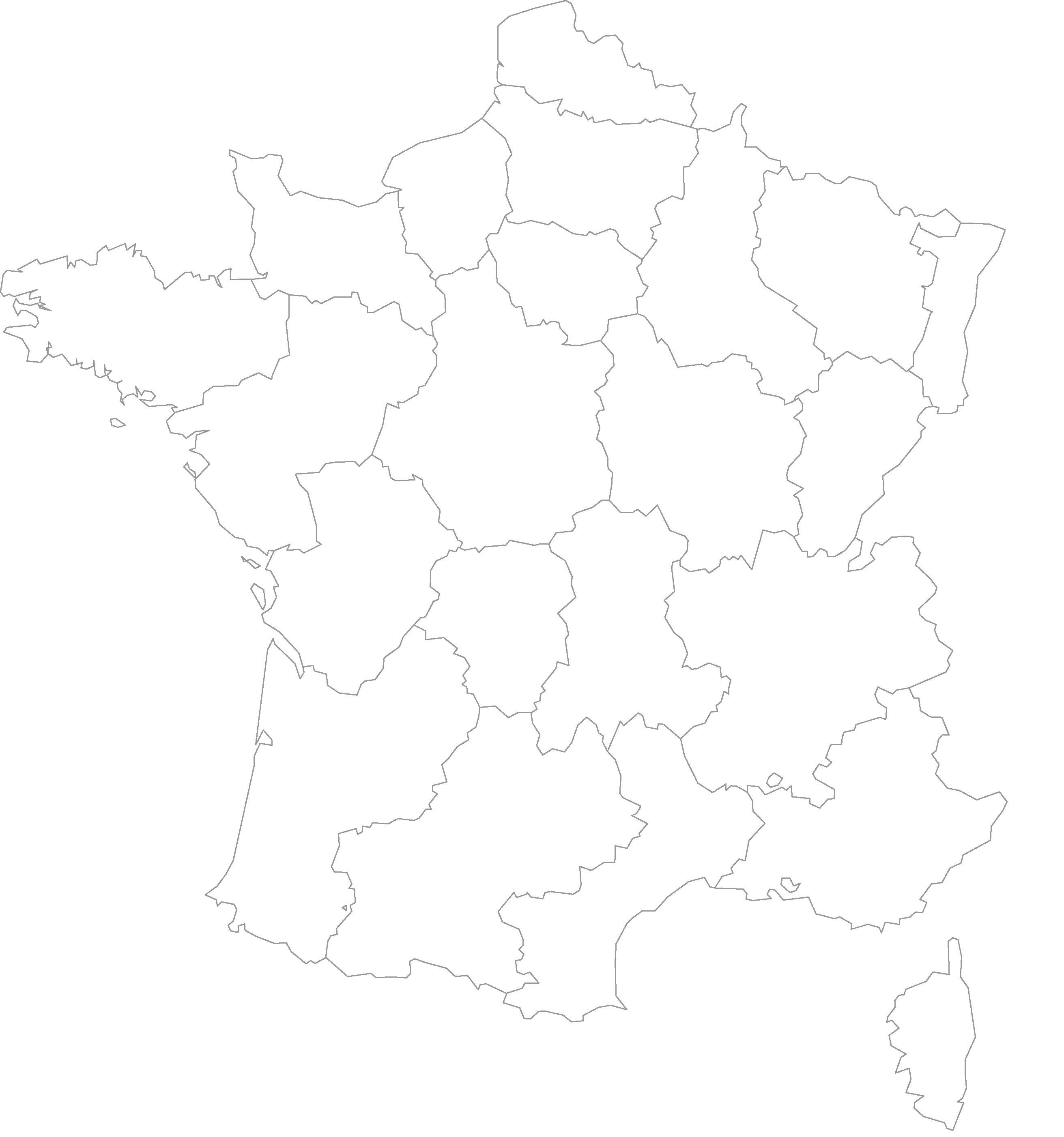 Carte des d2partements