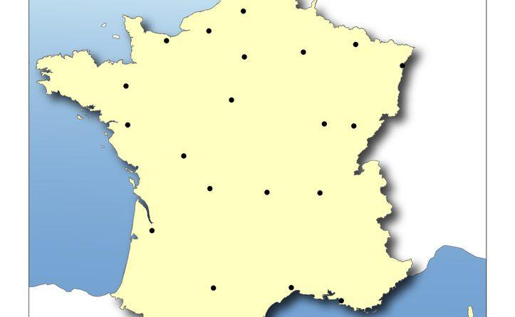 Placer les villes sur la carte de france - altoservices