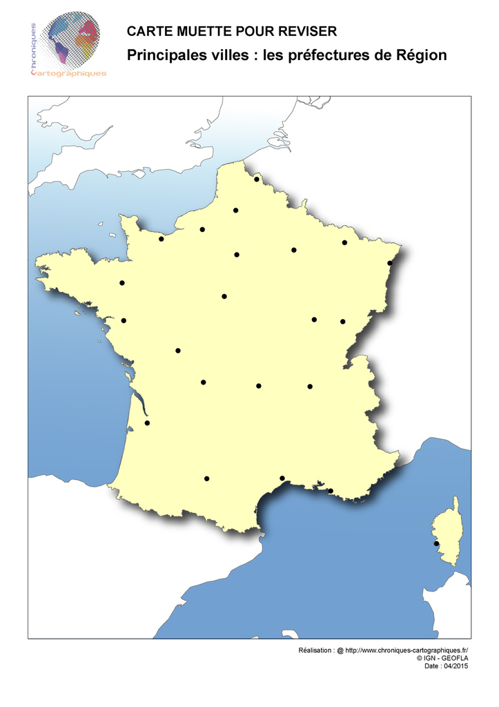 France carte villes principales