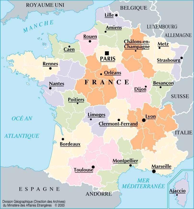 Carte de france 10 plus grandes villes
