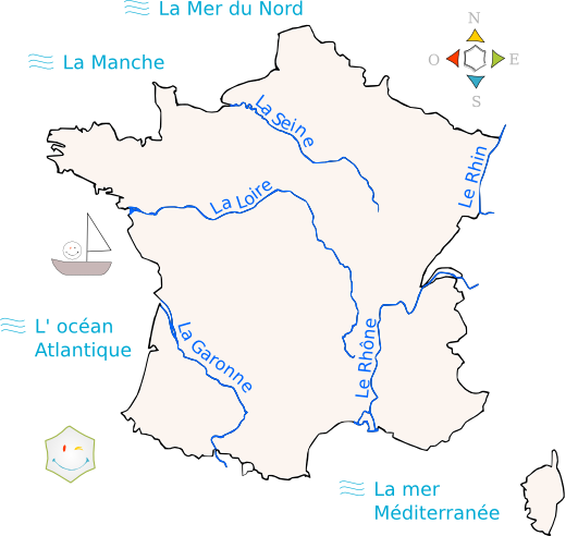 Carte de france fleuves