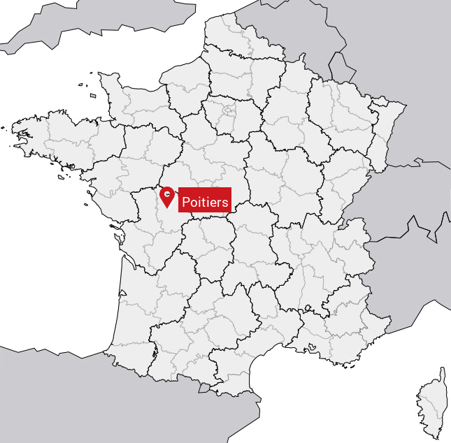 Poitiers carte de france