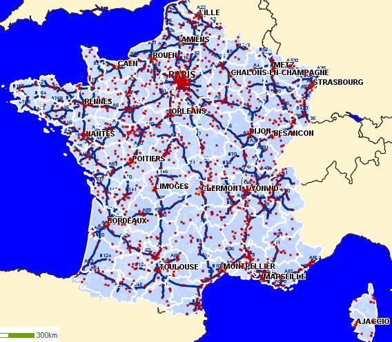 Plan des autoroutes