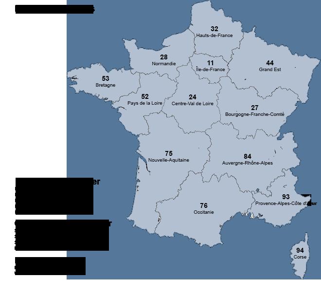 Région française liste