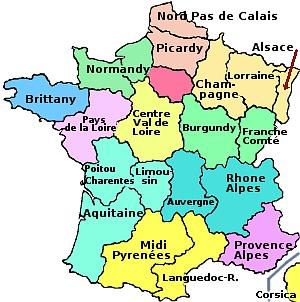 Les régions en france