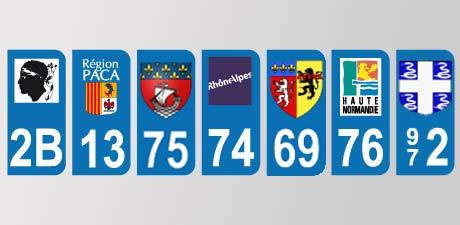 Numéros minéralogiques des départements français