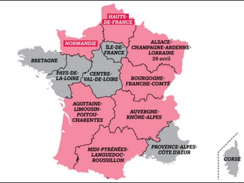 Quelles sont les nouvelles régions de france