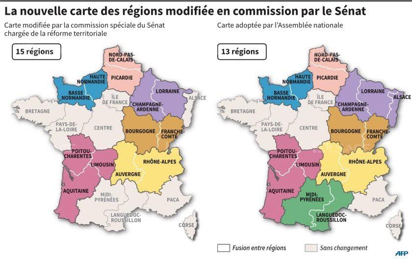 Nouvelle carte régionale